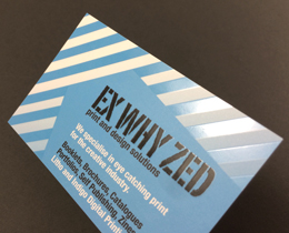 Business Card printing Ex Why Zed