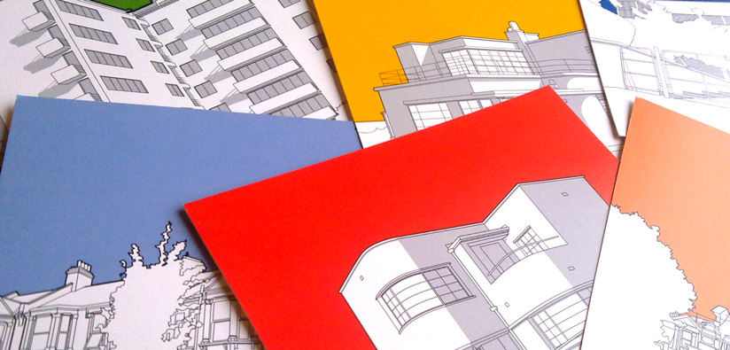 architecture-postcard-printing